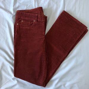 J. Crew corduroy 32 TALL straight leg jeans